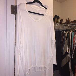 Hard Tail long sleeve white top size S
